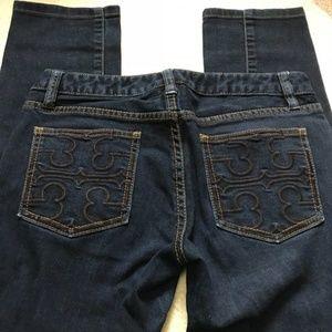 Tory Burch Super Skinny Jeans Logo Pocket 26